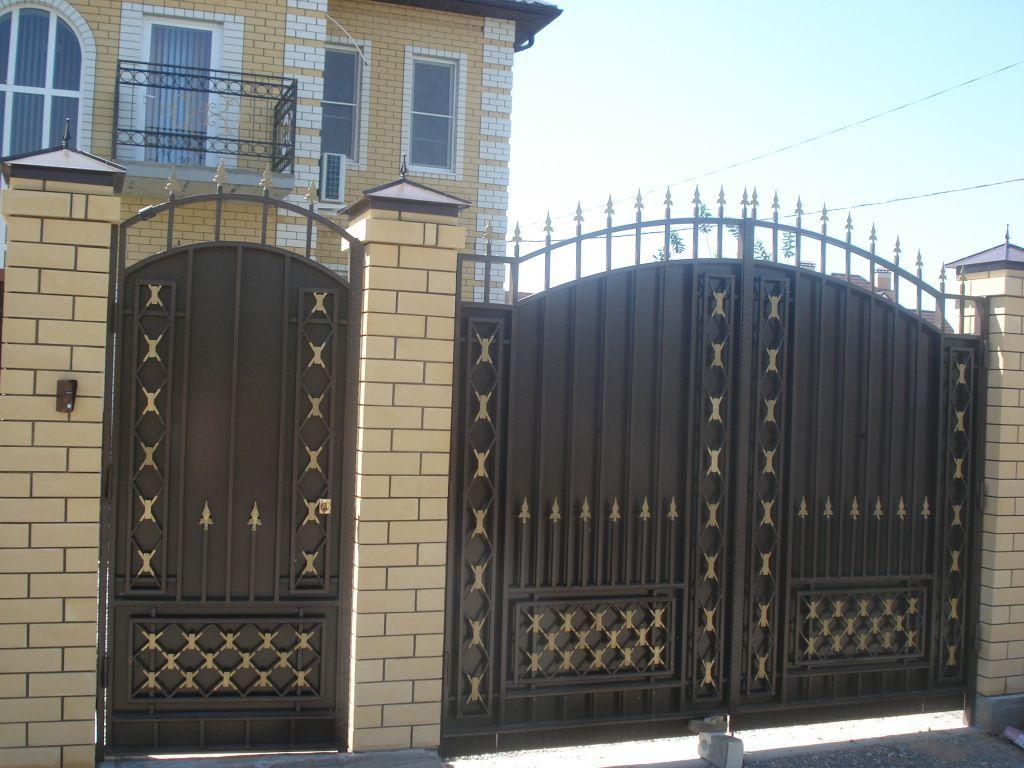 Фото ворота с калиткой дизайн